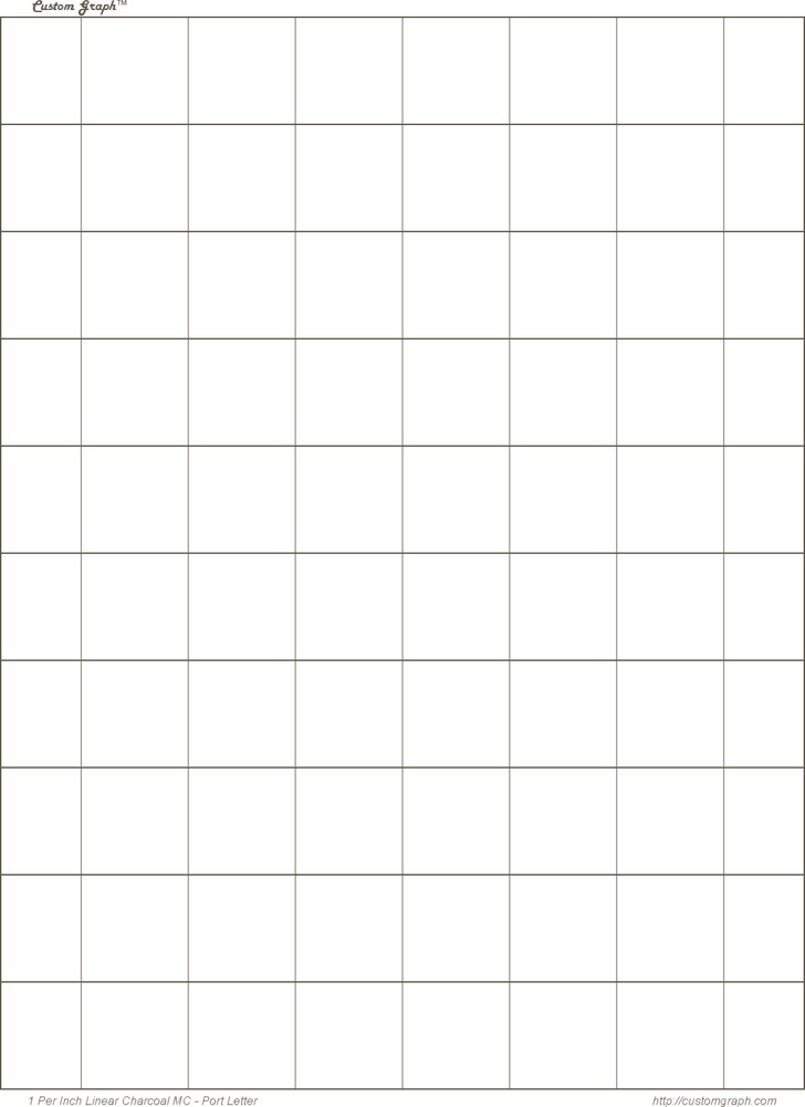 1 Inch Square Graph Paper  Graph Sheet Download