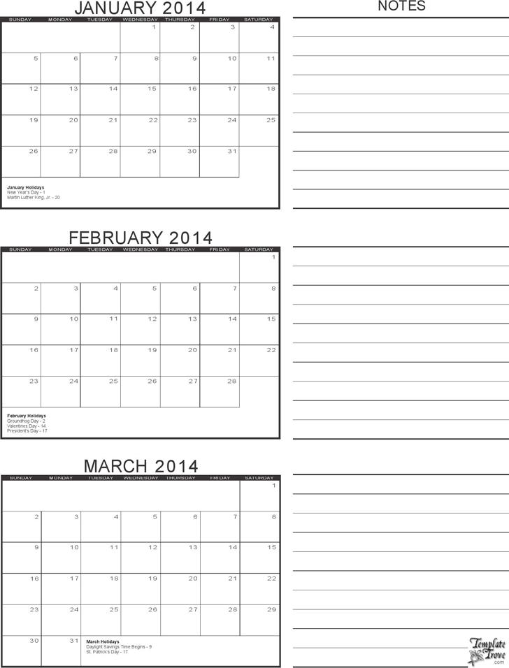 3 Month Calendar Template Template Free Download Speedy Template