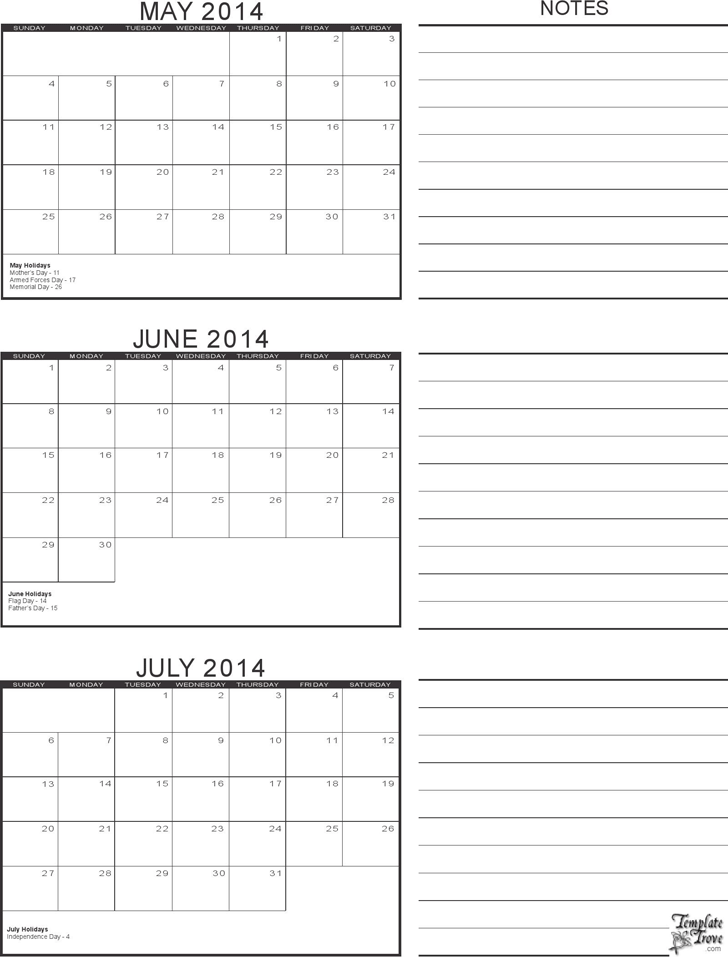 3 Month Calendar Template Template Free Download Speedy Template