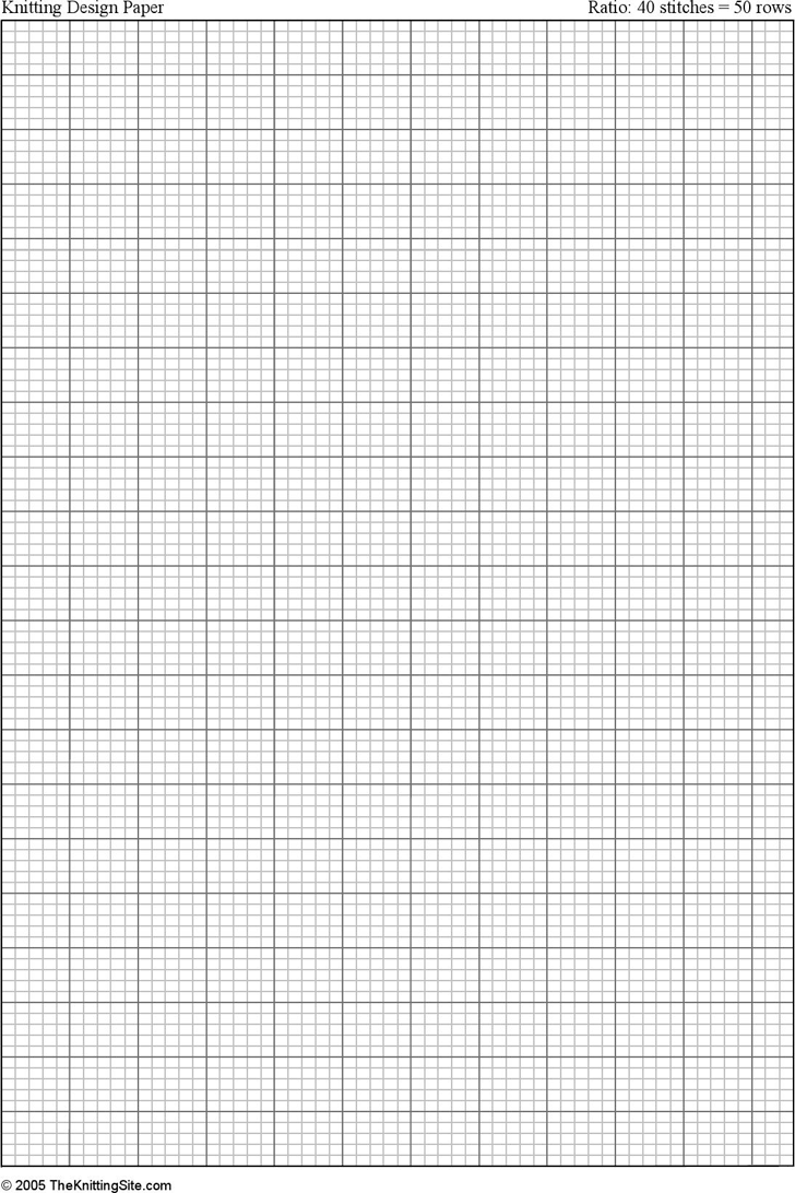 free a4 knitting graph paper  ratio 4 5  portrait