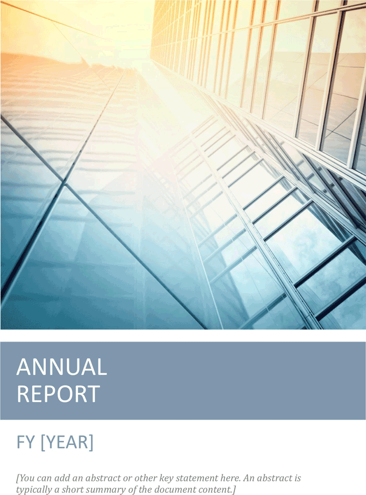 Free Annual Report Template Dotx 1191kb 8 Pages