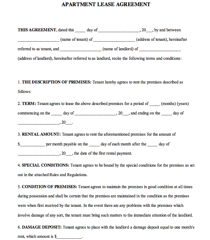 Apartment Lease Agreement 2
