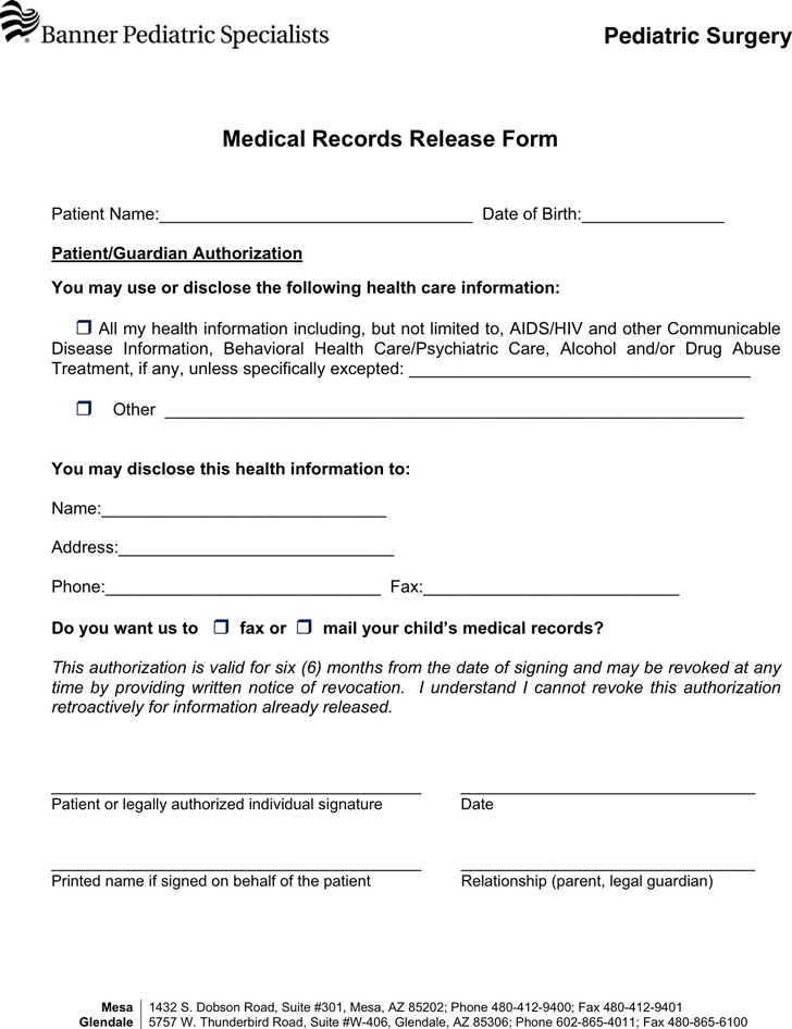 medical records release template expin franklinfire co