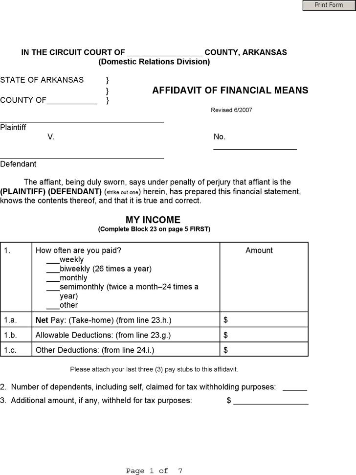 Free Affidavit Template Free Blank Affidavit Form and Template – Affidavit Template Free