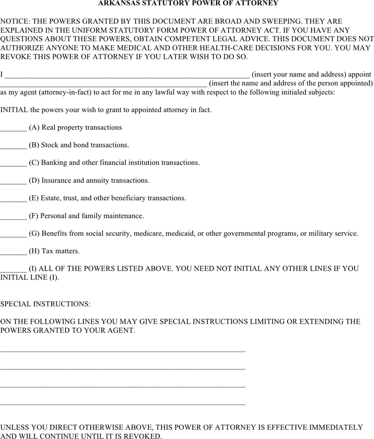 Power of Attorney Template - Free Template Download,Customize and ...