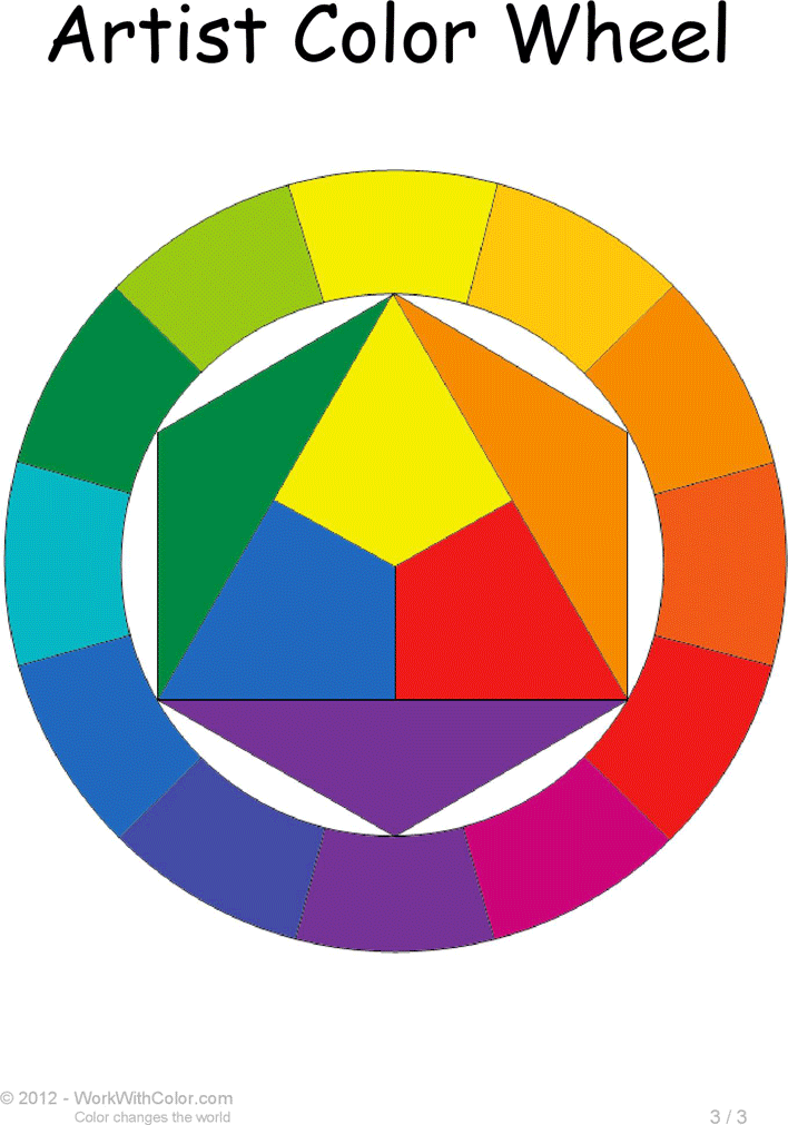 Free Artist Color Wheel Chart Template Pdf 186kb 3 Pages