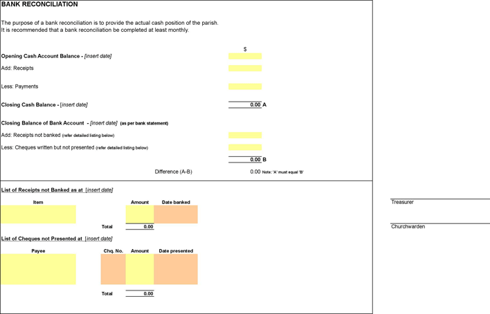 free bank reconciliation template xls 25kb 2 page s page 2
