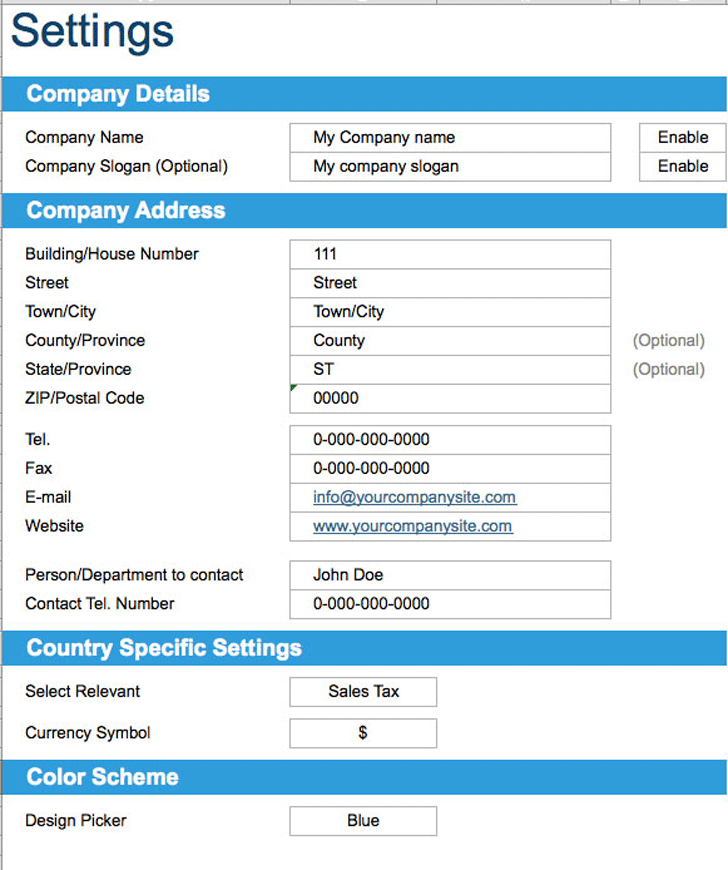 Basic Invoice Template 3