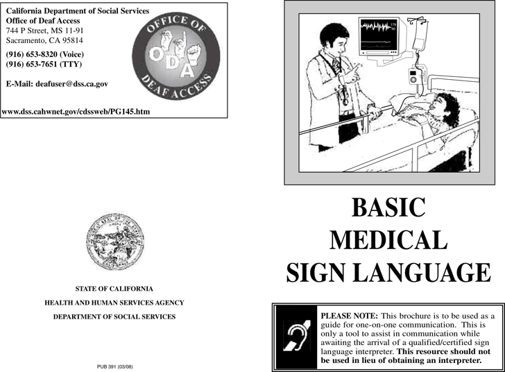 Basic Medical Sign Language