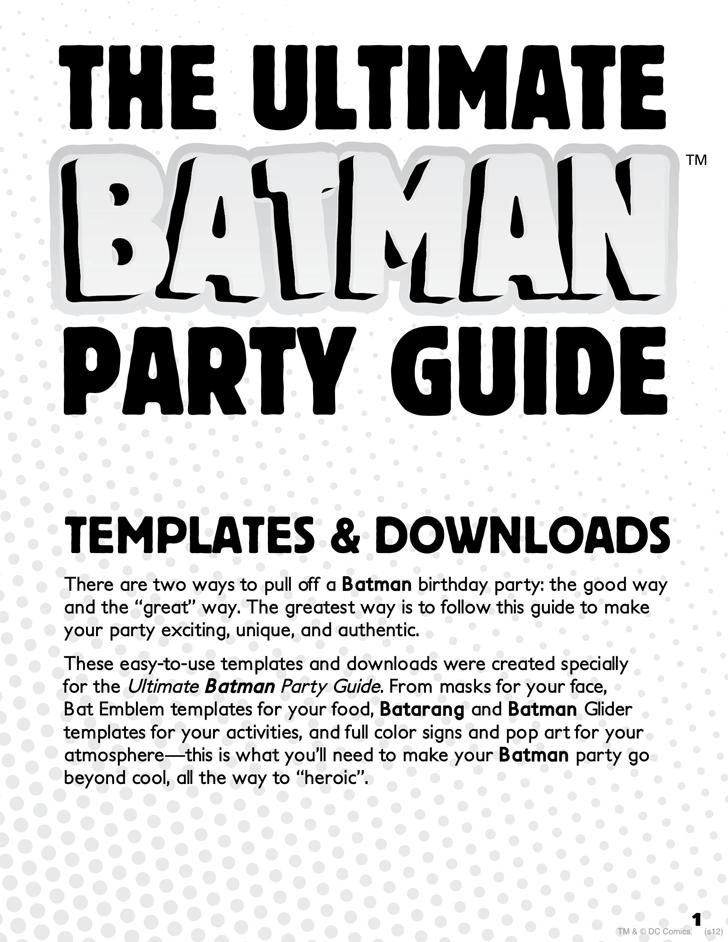 Free batman party mask template pdf 1201kb 14 pages batman party mask template maxwellsz