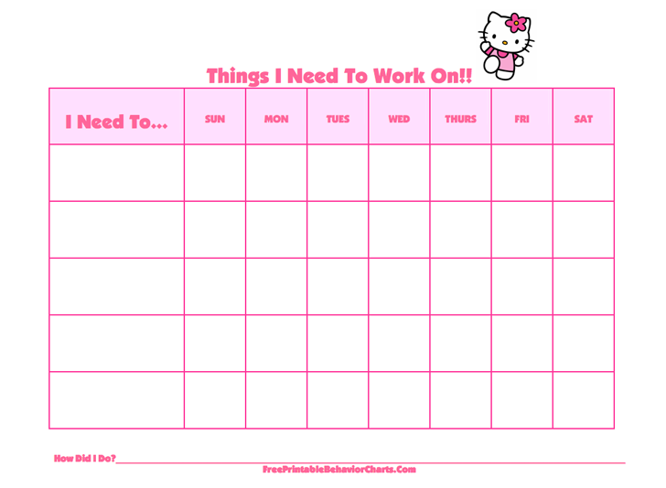 Behavior Chart For Kids 2  Kids Behavior Chart Template