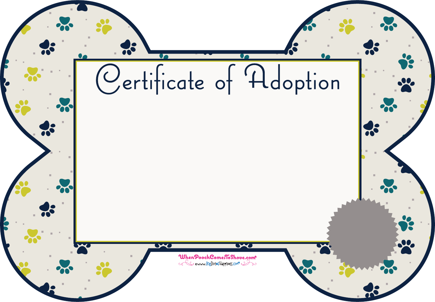 Free Pet Adoption Certificate Pdf 119kb 1 Page S