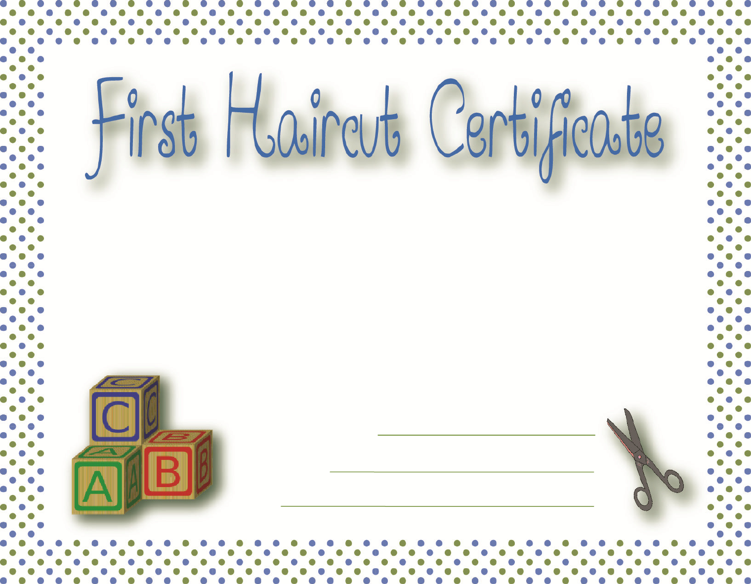 Free First Haircut Certificate Pdf 2804kb 1 Pages