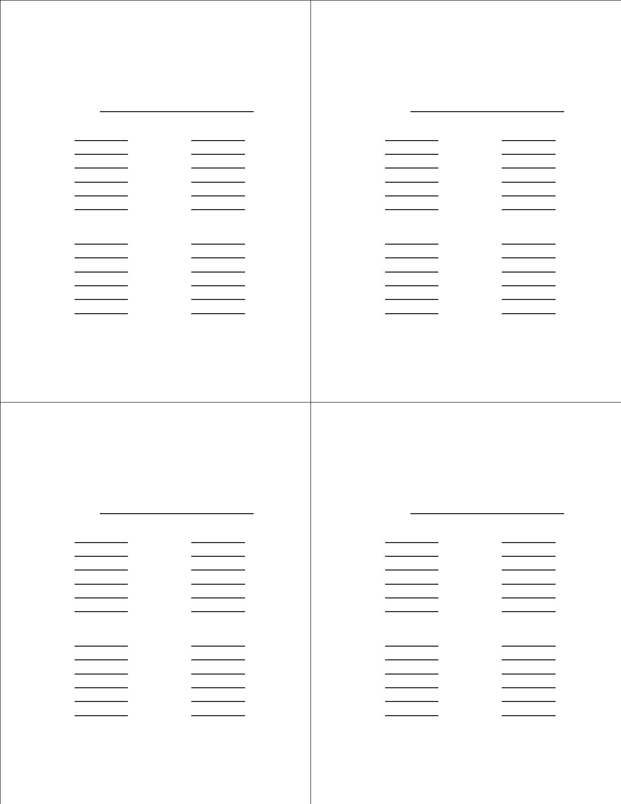 Free Bunco Score Sheets - PDF   22KB   1 Page(s)