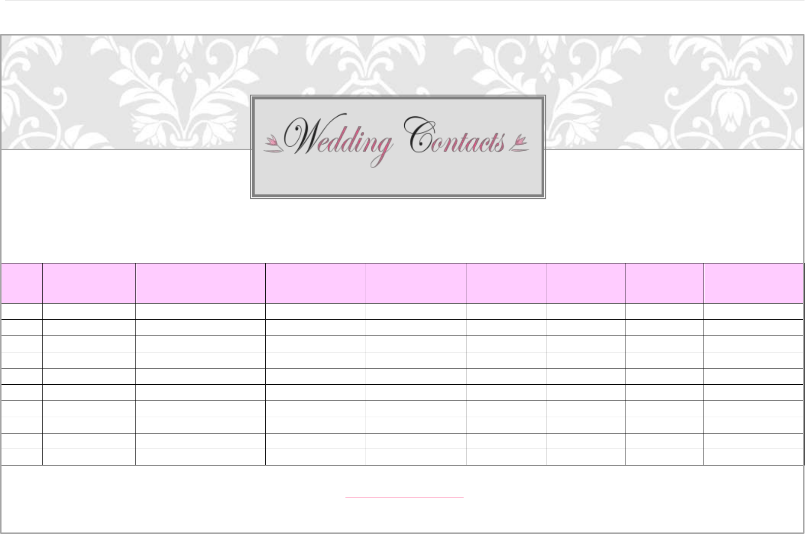 free wedding guest list template  pdf  293kb  5 pages