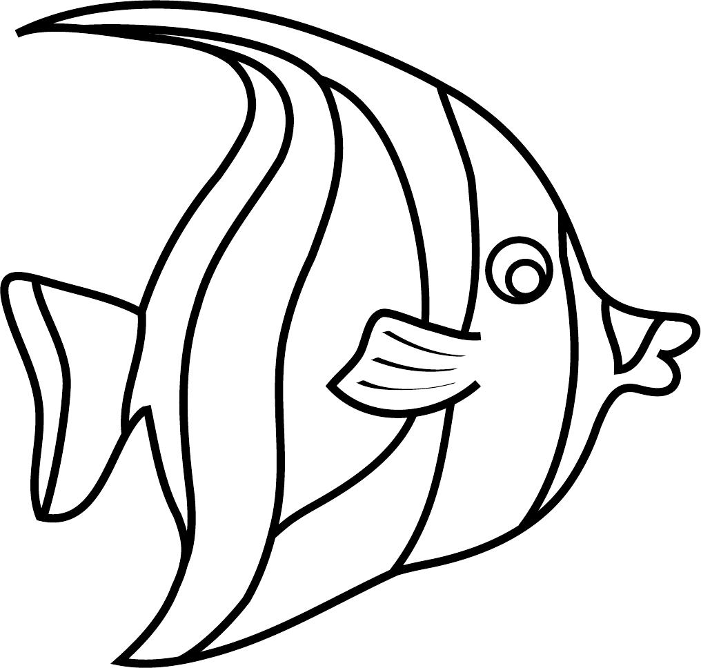 Free Moorish Idol Fish Template