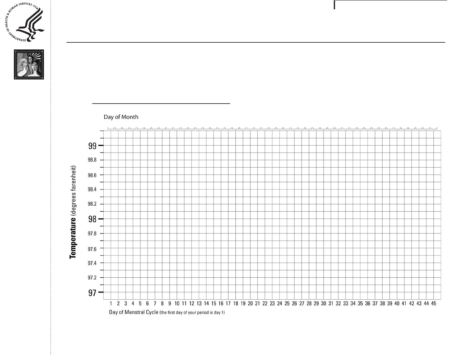 picture relating to Basal Body Temp Chart Printable called Free of charge Basal Overall body Weather Chart - PDF 568KB 1 Web site(s)