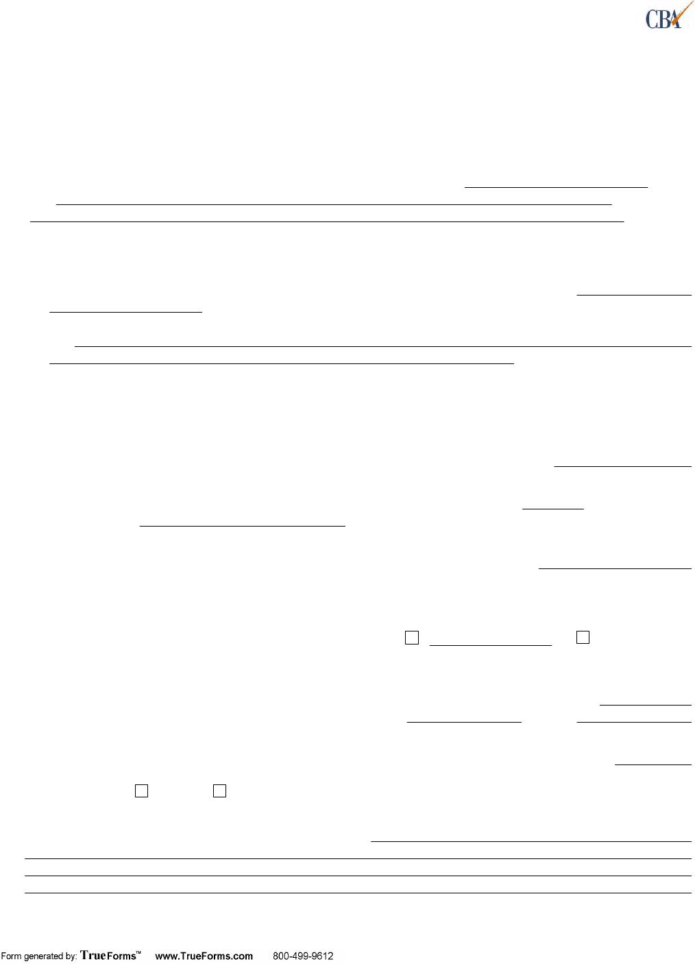 Washington Lease Agreement (Multi Tenant Triple Net(NNN)Lease) Form