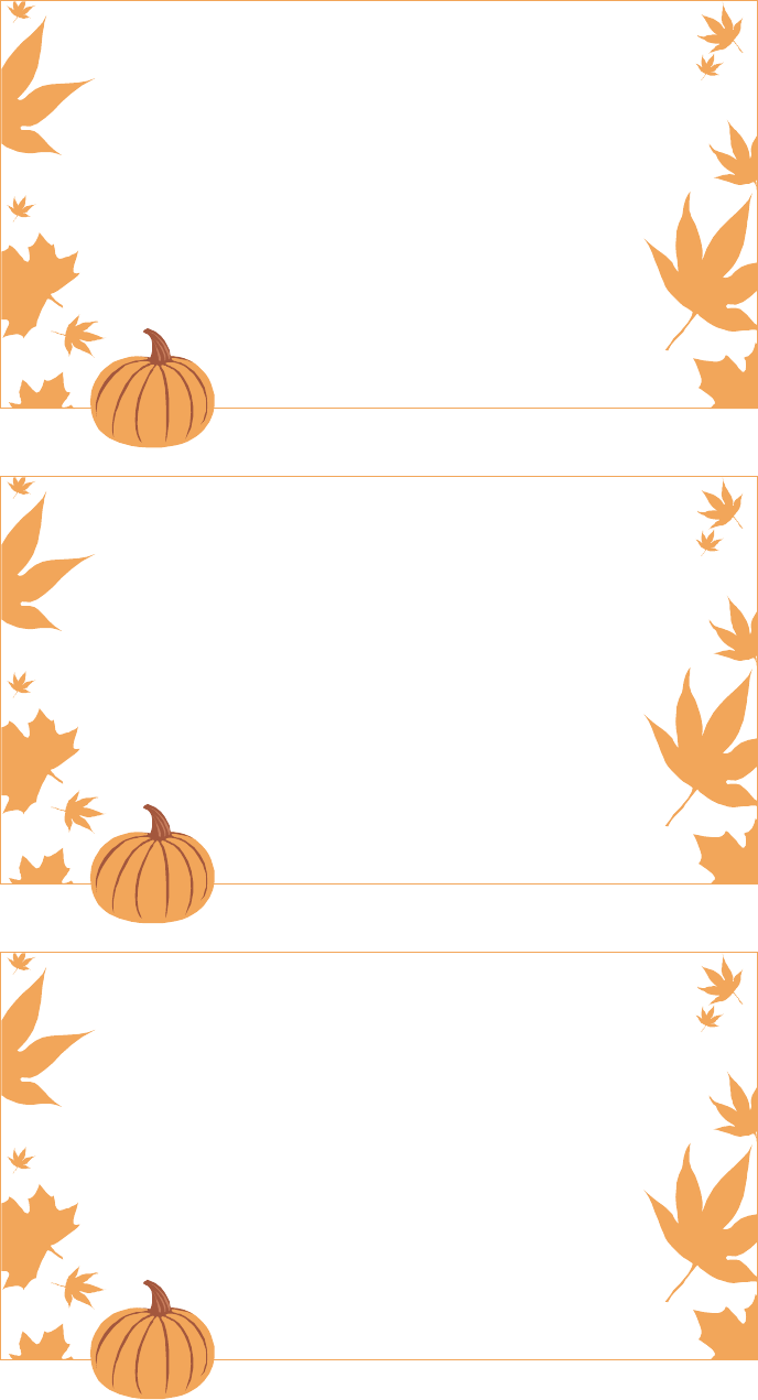 Thanksgiving Menu template 2