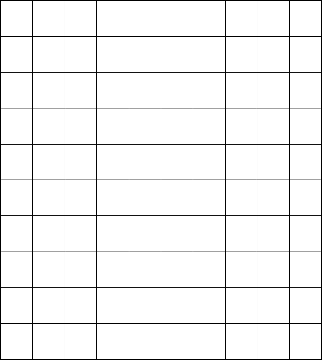 This is a graphic of Printable Blank Hundreds Chart with regard to full page