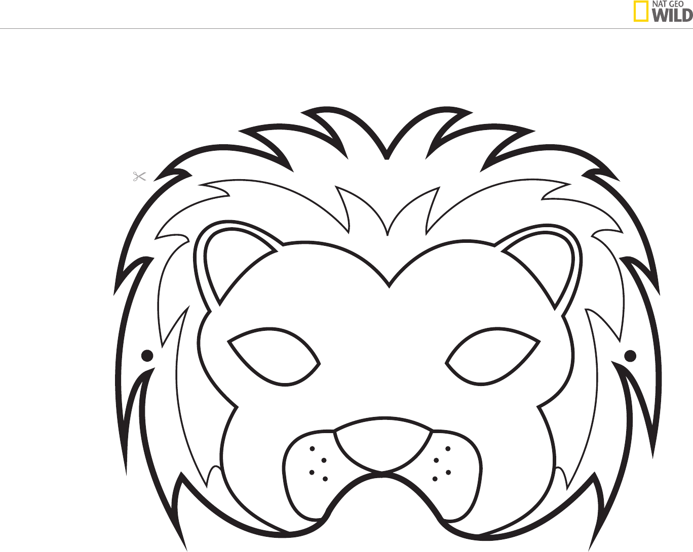 Free Animal Mask Template Pdf 114kb 4 Page S Page 3