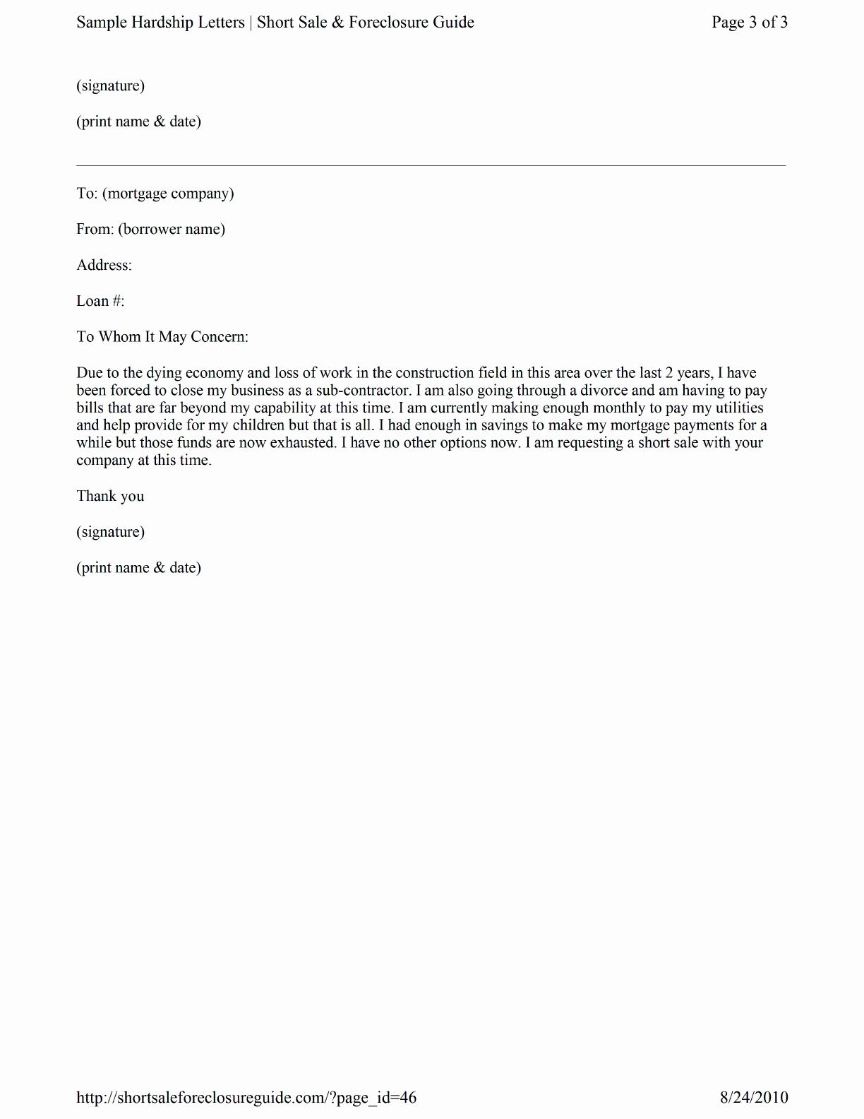 Hardship Letter For Shortsale from www.speedytemplate.com
