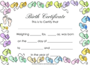 Birth Certificate Template