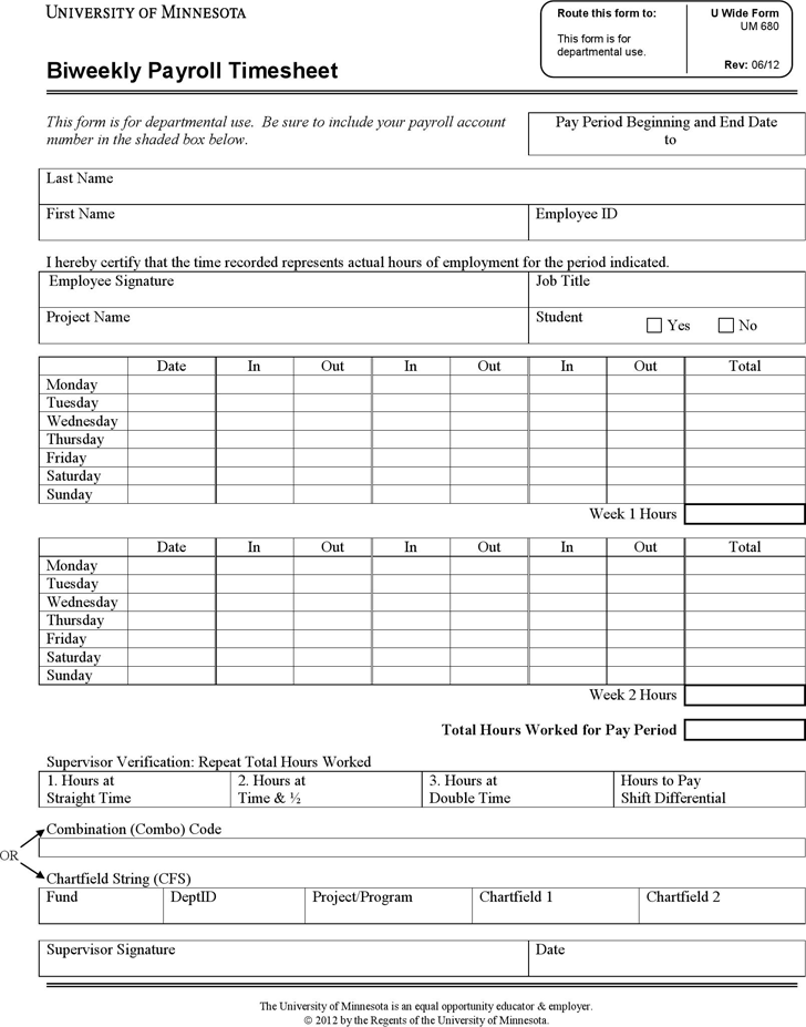 free biweekly payroll timesheet template pdf 109kb 1. Black Bedroom Furniture Sets. Home Design Ideas