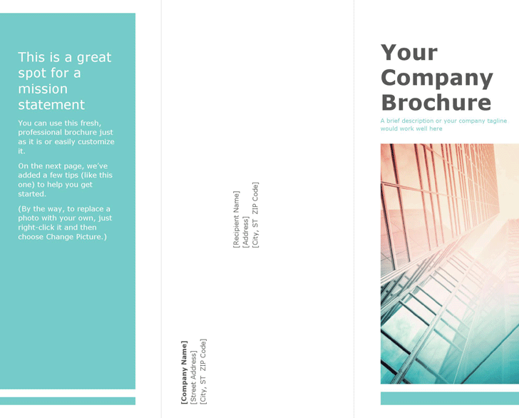 Free Blank Brochure Template - docx | 489KB | 2 Page(s)