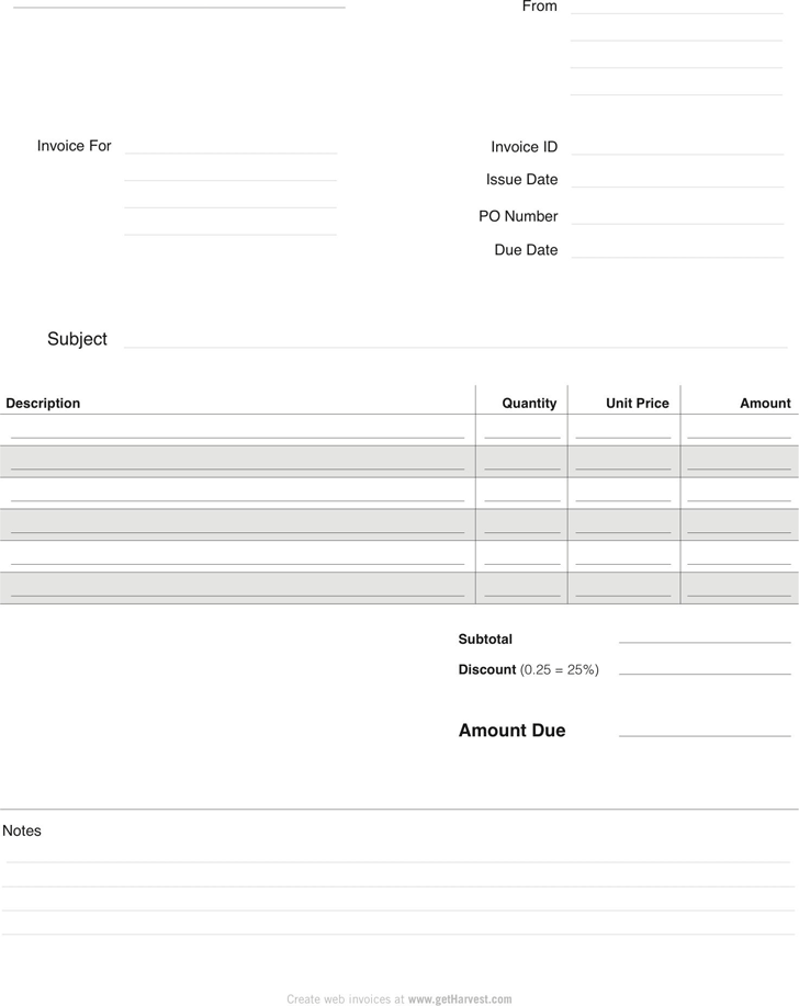 Blank Invoice Template Template Free Download Speedy Template - Empty invoice template