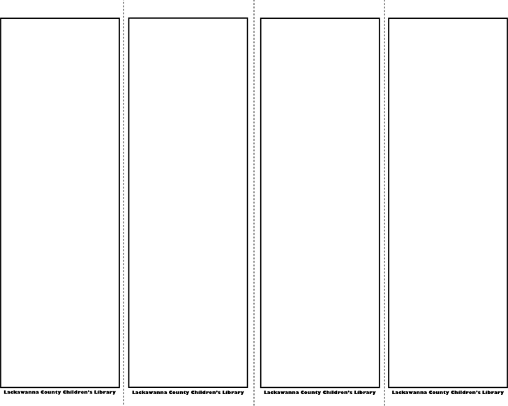 Free Bookmark Template Pdf 31kb 2 Page S