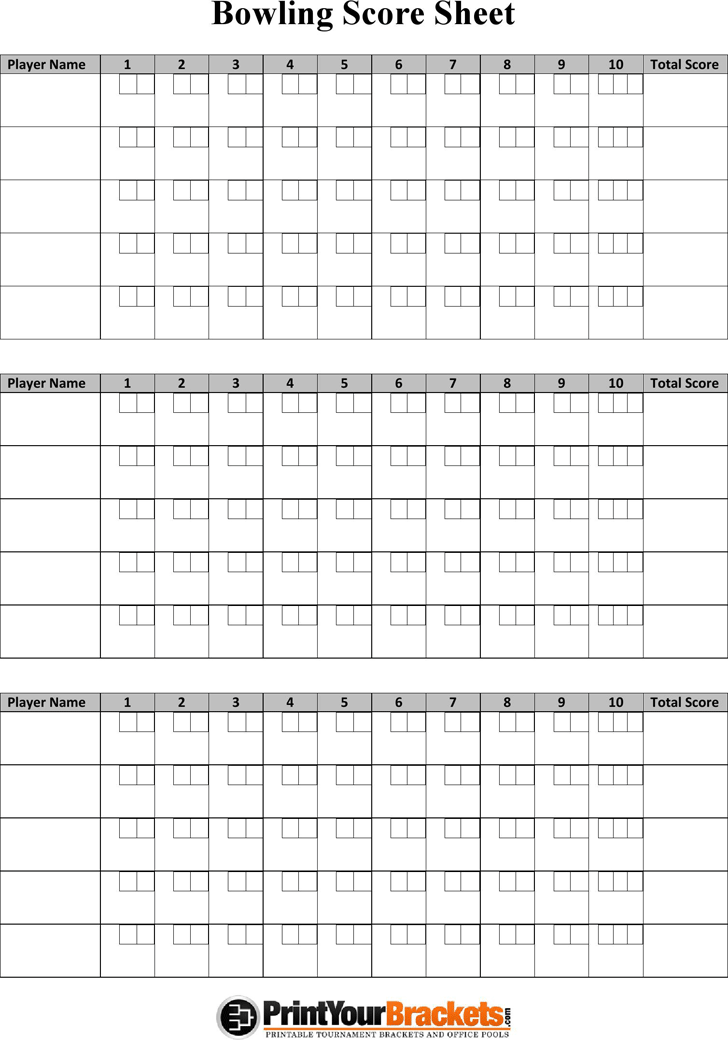 photo about Printable Bowling Score Sheet named Absolutely free Bowling Rating Sheet - PDF 104KB 1 Website page(s)