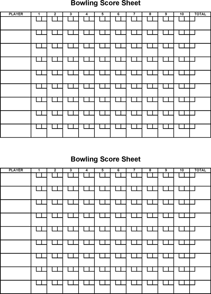 graphic about Printable Bowling Score Sheet identified as Free of charge Bowling Ranking Sheet - PDF 5KB 1 Web page(s)