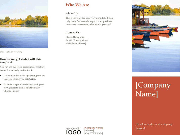 Free Brochure Template Docx 736kb 2 Pages