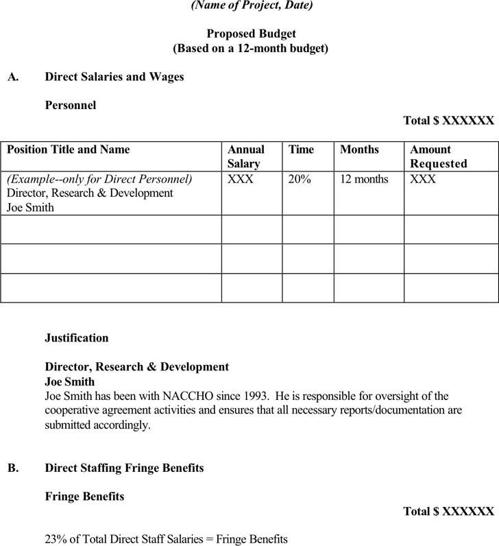 Free Budget Proposal Template Docx 27kb 4 Pages