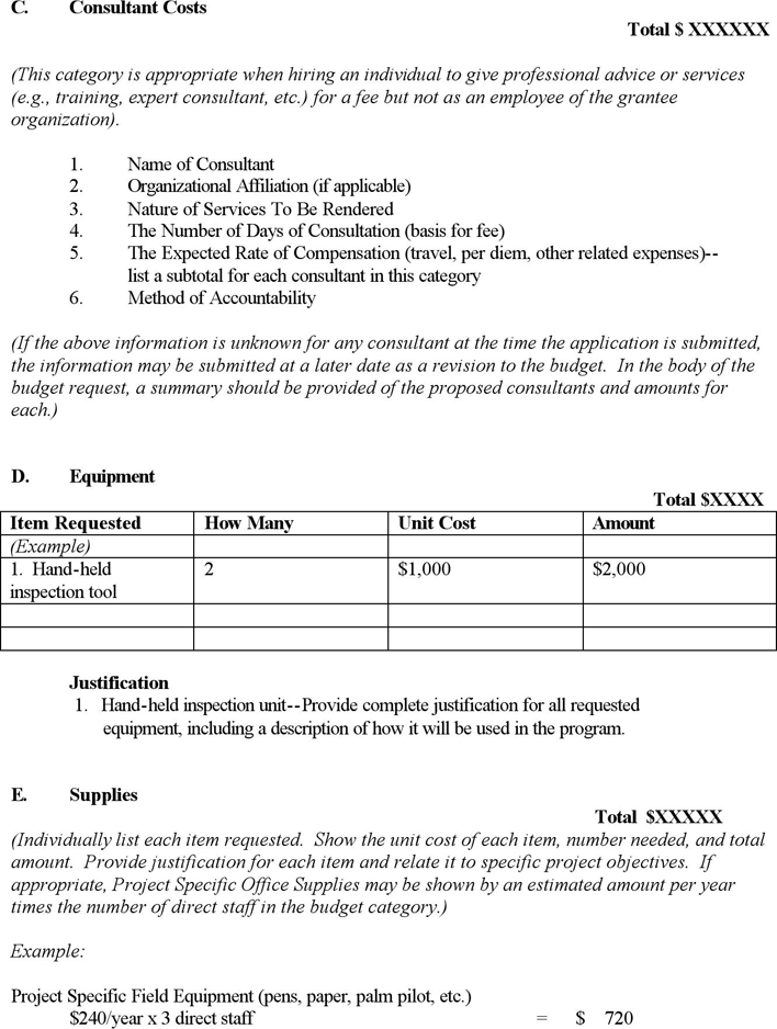Free Budget Proposal Template - docx | 27KB | 4 Page(s) | Page 2