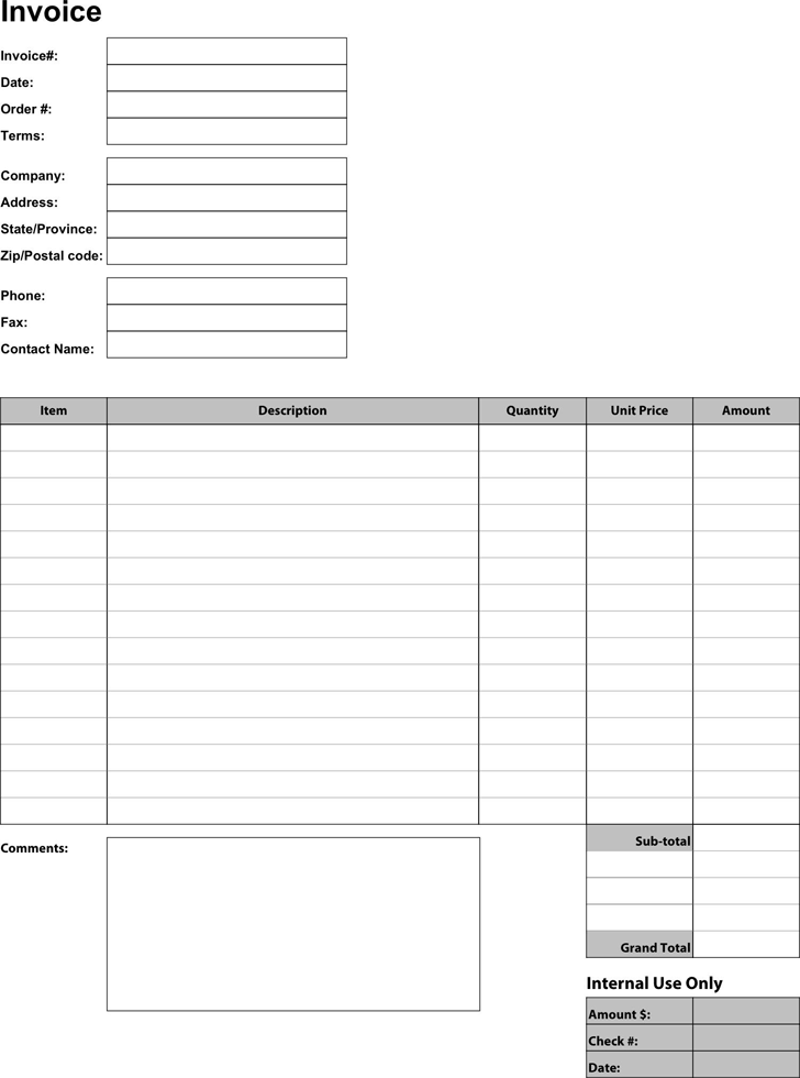 Business Invoice Template Template Free Download Speedy Template