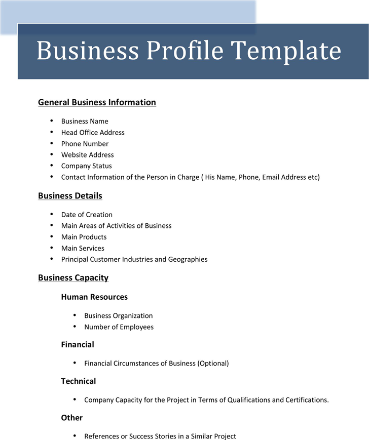 Business profile template template free download speedy template business profile template 3 accmission Image collections
