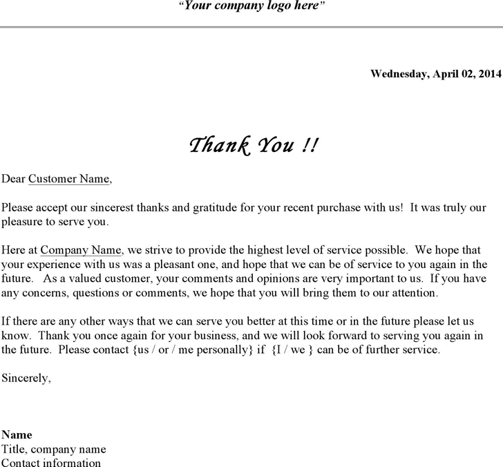 Free business thank you letter doc 25kb 1 pages business thank you letter wajeb Choice Image