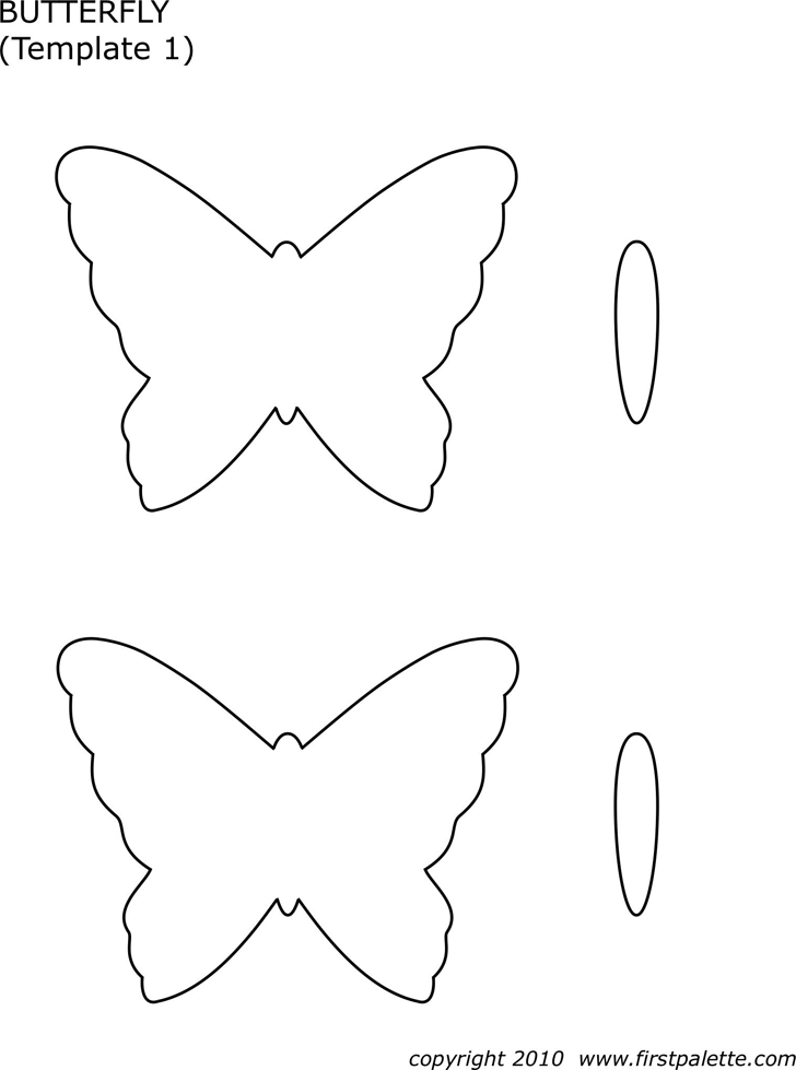 butterfly template 1 - Butterfly Template Free