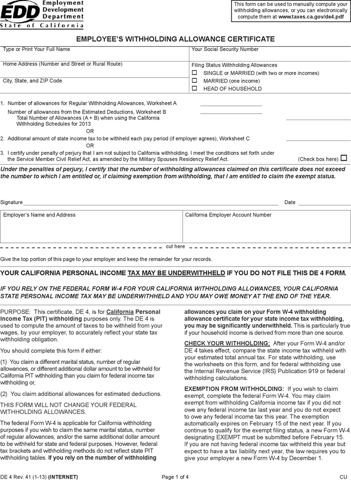 california form 100 instructions