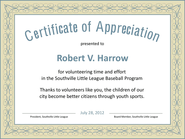Volunteer certificate appreciation templates free images certificate of appreciation template template free download certificate of appreciation template 3 yadclub images yadclub Image collections