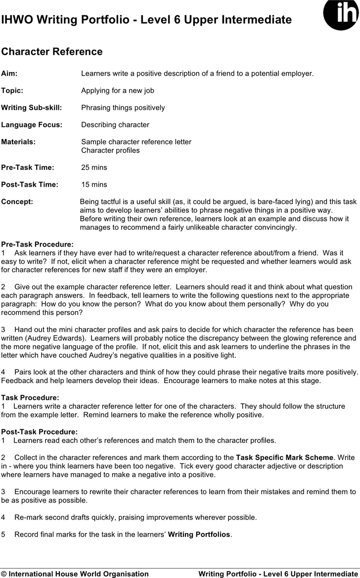 Character Reference Letter Template Template Free Download