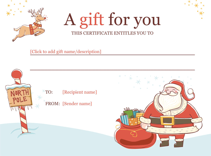 gift certificate template template free download speedy template
