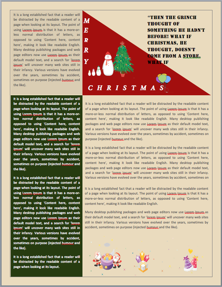 Christmas newsletter template free download speedy template christmas newsletter 2 maxwellsz