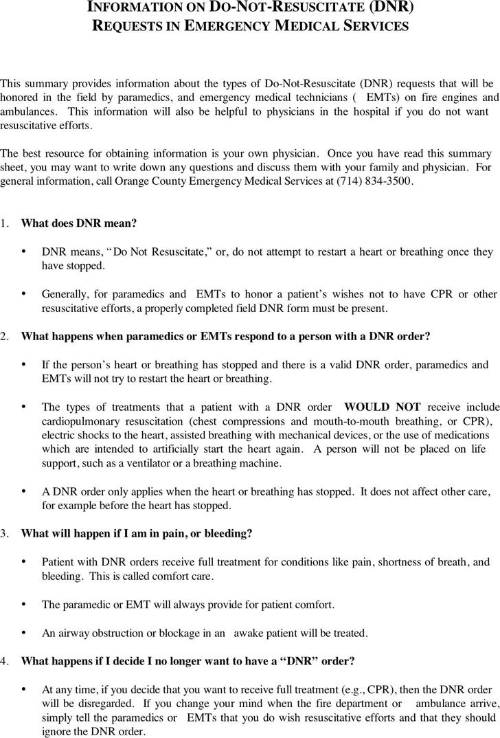 Free Colorado Do Not Resuscitate Form - PDF | 39KB | 6 Page(s)