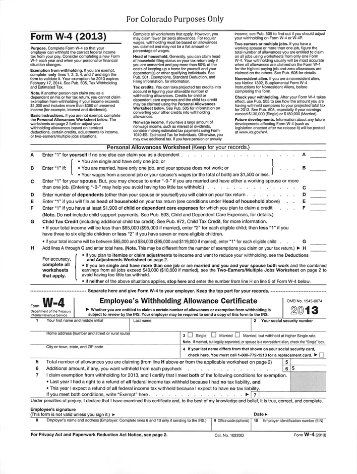 State Tax Withholding Forms Template Free Download Speedy Template