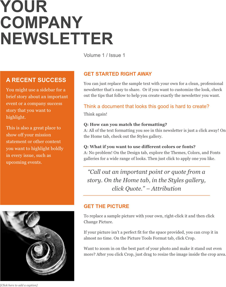 Company Newsletter 1