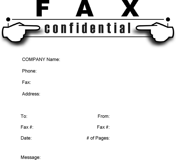 confidential fax cover sheet template free download speedy template