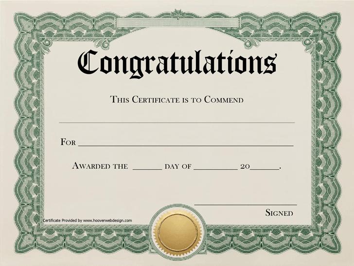 Congratulations Certificate Template Free Download Speedy Template